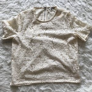 Madewell Offwhite Lace Top Size Large
